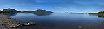 A panorama view of Lough Lein with Torc Mountain on left and The Lake Hotel on right, taken in Killarney during the summer of 2010.<br /> Picture by Don MacMonagle