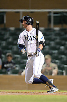 Salt River Rafters outfielder Todd Glaesmann (22), of the Tampa Bay Rays organization, during an Arizona Fall League game against the Surprise Saguaros on October 15, 2013 at Salt River Fields at Talking Stick in Scottsdale, Arizona.  Surprise defeated Salt River 9-2.  (Mike Janes/Four Seam Images)