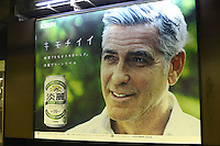 Celebrity advert in Japan<br /> George Cloony is on Japanese Beer, Kirin Tanrei advert in Japan