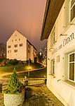 Pfarrhaus auf  Kirchhügel, Restaurant Löwen, Bendern, Gamprin, Rheintal, Rhine-valley, Liechtenstein.