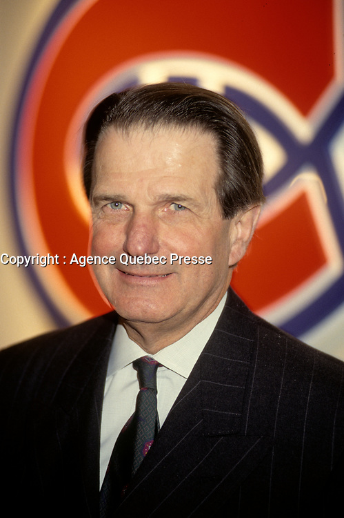 Le patron du Canadien de Montreal,<br /> Ronald Corey,<br /> Avril 1999<br /> <br /> EXCLUSIF<br /> <br /> PHOTO : Agence Quebec Presse