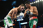Las Vegas, NV - September 14, 2019 - T-Mobile Arena: Ruben Garcia Hernandez and Isaac Lowe competing in a Top Rank Boxing bout.<br /> (Photo by Al Powers / ESPN Images)