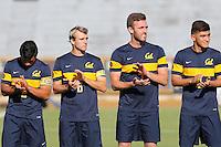 BERKELEY, CA - September 16, 2016: Cal Bears Men's Soccer team vs. the University of Nebraska Omaha Mavericks at Goldman Field. Final score, Cal Bears 2, University of Nebraska Omaha Mavericks 0.
