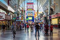 Las Vegas, Nevada.  Fremont Street Experience.  SlotZilla, Starting Point for Zipline and Zoomline Rides.