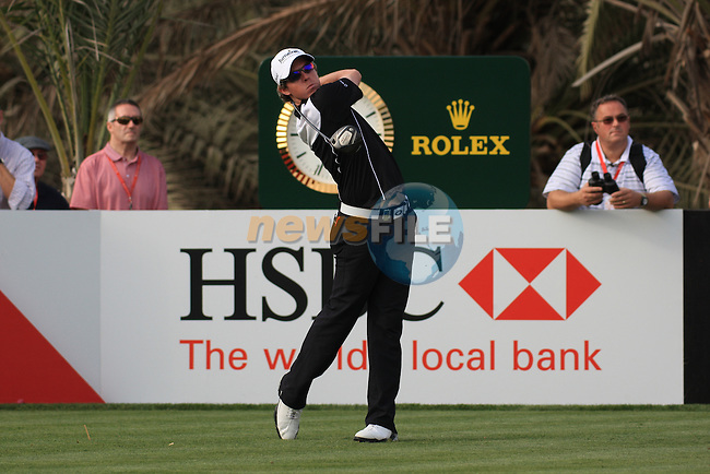 Rory McIlroy Teeing off on the 14th on day one of the Abu Dhabi HSBC Golf Championship 2011, at the Abu Dhabi golf club, UAE. 20/1/11..Picture Fran Caffrey/www.golffile.ie.