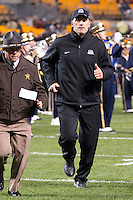 Old Dominion head coach Bobby Wilder. The Pitt Panthers defeated the Old Dominion Monarchs 35-24 at Heinz Field, Pittsburgh, Pennsylvania on October 19, 2013.