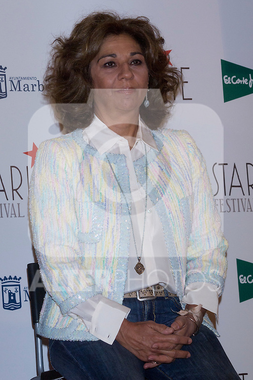 08.05.2012. Presentation of the Starlite Festival in the Casino de Madrid in the presence of some of the protagonists artists as Raphael, Lolita and Antonio Carmona, Paco Roncero for Bulli Catering, the Mayor of Marbella Ángeles Muñoz Uriol and producers of the project Sandra Garcia-Sanjuan and Ignacio Maluquer. The Starlite Festival will be held in Marbella from 13 July to 14 August. In the picture: Lolita (Alterphotos/Marta Gonzalez)