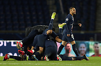 Soccer Football - Champions League - Round of 16 Second Leg - Paris St Germain v Borussia Dortmund - Parc des Princes, Paris, France - March 11, 2020  Paris St Germain's Layvin Kurzawa and teammates celebrates after the match   <br /> Photo Pool/Panoramic/Insidefoto