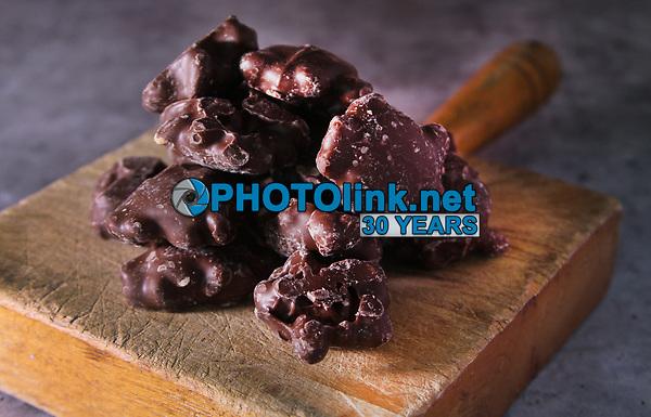 Milk Chocolate Caramel Peanut Clusters<br /> Photo By Adam Scull/PHOTOlink.net