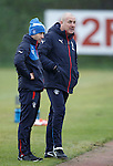 Craig Flannigan head of performance at training with manager Mark Warburton