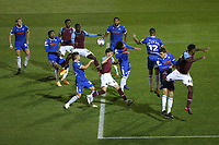 Mesaque Dju of West Ham United goes close during Colchester United vs West Ham United Under-21, EFL Trophy Football at the JobServe Community Stadium on 29th September 2020