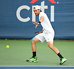 Tommy Haas of Germany during the singles final at the Citi Open in Washington, DC on August 5, 2012.