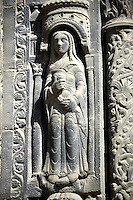 Medieval sculptures from the facade of the Gothic Cathedral Basilica of Saint Denis ( Basilique Saint-Denis ) Paris, France. A UNESCO World Heritage Site. Gothic Cathedral Basilica of Saint Denis ( Basilique Saint-Denis ) Paris, France. A UNESCO World Heritage Site.
