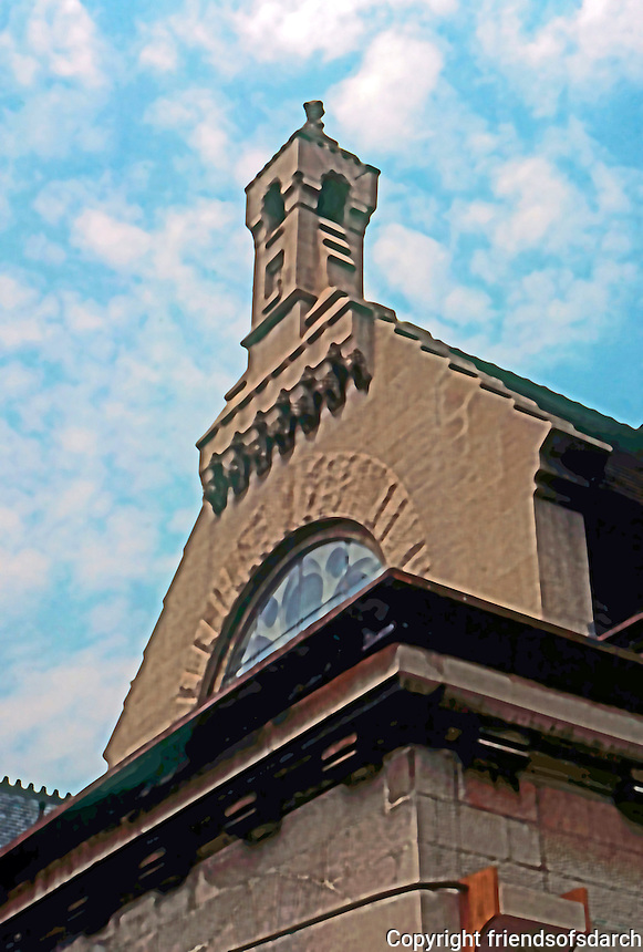 Frank Furness: First Unitarian Church, Philadelphia 1883.  Photo '76.