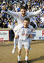 14/04/2007       Copyright Pic: James Stewart.File Name : sct_jspa07_raith_rovers_v_morton.MORTON'S BOBBY LINN AND SCOTT MCLAUGHLIN CELEBRATE WINNING THE LEAGUE....James Stewart Photo Agency 19 Carronlea Drive, Falkirk. FK2 8DN      Vat Reg No. 607 6932 25.Office     : +44 (0)1324 570906     .Mobile   : +44 (0)7721 416997.Fax         : +44 (0)1324 570906.E-mail  :  jim@jspa.co.uk.If you require further information then contact Jim Stewart on any of the numbers above.........