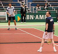 23-2-07,Tennis,Netherlands,Rotterdam,ABNAMROWTT, Exhibition match with Jan Siemerink and Jochem van Gelder