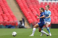 29th August 2020; Wembley Stadium, London, England; Community Shield Womens Final, Chelsea versus Manchester City; Keira Walsh of Manchester City Women challenges Guro Reiten of Chelsea Women