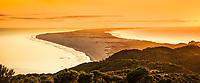 Sunrise over Farewell Spit near Collingwood, Nelson Region, South Island, New Zealand, NZ