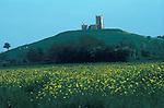 Burrow Mount, Burrowbridge, also known as Burrow Mump, 18th century St Michael's Church Somerset UK 1990s