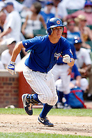 August 9, 2009:  Nate Spears of the Iowa Cubs during a game at Wrigley Field in Chicago, IL.  Iowa is the Pacific Coast League Triple-A affiliate of the Chicago Cubs.  Photo By Mike Janes/Four Seam Images