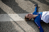 Vittoria Guazzini (ITA/Valcar) after finishing<br /> <br /> Women Elite Individual Time Trial from Knokke-Heist to Bruges (30.3 km)<br /> <br /> UCI Road World Championships - Flanders Belgium 2021<br /> <br /> ©kramon