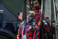 KANSAS CITY, KS - JULY 15: Gyasi Zardes #9 of the United States arriving at the stadium before a game between Martinique and USMNT at Children's Mercy Park on July 15, 2021 in Kansas City, Kansas.