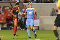 Chicago, IL - Saturday Sept. 24, 2016: Jennifer Hoy during a regular season National Women's Soccer League (NWSL) match between the Chicago Red Stars and the Washington Spirit at Toyota Park.