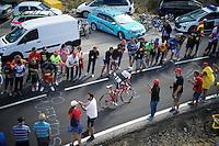 Yaroslav Popovych (UKR/Trek Factory Racing) up the <br /> <br /> stage 20: San Lorenzo de el Escorial - Cercedilla (176km)<br /> 2015 Vuelta à Espana