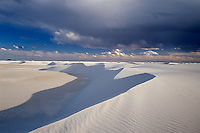 Building Storm<br /> Heart of the Sands<br /> White Sands National Monument<br /> Chihuahuan Desert,  New Mexico