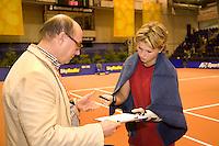 15-12-07, Netherlands, Rotterdam, Sky Radio Masters, Michaella Krajicek   wordt opgeroepen voor de dopingcontrolle