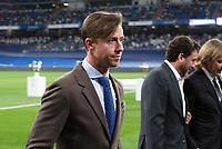 12th September 2021; Estadio Santiago Bernabeu, Madrid, Spain; La Liga, Real Madrid CF versus RC Celta de Vigo; Guti Real Madrid former player during the tribute to Lorenzo Sanz, former president of Real Madrid who died of covid