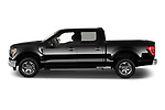 Car Driver side profile view of a 2021 Ford F-150 XLT 4 Door Pick-up Side View