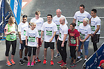 © Joel Goodman - 07973 332324 . 22/05/2016 . Manchester , UK . Team Crolla , featuring ANTHONY CROLLA , at the start . The Great Manchester Run in Manchester City Centre . Photo credit : Joel Goodman