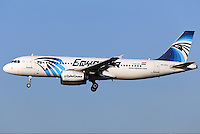 Pictured: The Airbus A320-232, stock picture dated January 2015 at Brussels Airport<br /> Re: EgyptAir Flight 804 (MS804/MSR804) is an international passenger flight operated by EgyptAir that went missing on 19 May 2016 at 02:45 local time.Egyptian authorities have stated that the plane most likely crashed into the sea. A multinational search and rescue operation is underway.<br /> The aircraft involved was an Airbus A320-232