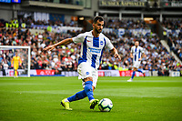 Martin Montoya of Brighton & Hove Albion (22)   during the Premier League match between Brighton and Hove Albion and Manchester United at the American Express Community Stadium, Brighton and Hove, England on 19 August 2018. Photo by Edward Thomas / PRiME Media Images.