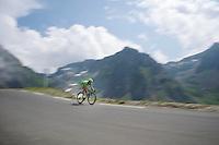 Peter Sagan (SVK/Cannondale) coming down over the top of the Col du Tourmalet (HC/2115m/17.1km/7.3%)<br /> <br /> 2014 Tour de France<br /> stage 18: Pau - Hautacam (145km)