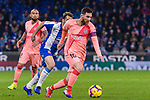 Lionel Messi of FC Barcelona (R) in action during the La Liga 2018-19 match between RDC Espanyol and FC Barcelona at Camp Nou on 08 December 2018 in Barcelona, Spain. Photo by Vicens Gimenez / Power Sport Images