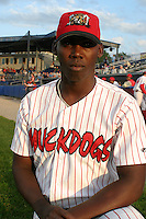 September 3, 2003:  pitcher Nelson Echarry of the Batavia Muckdogs during a game at Dwyer Stadium in Batavia, New York.  Photo by:  Mike Janes/Four Seam Images