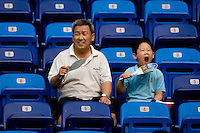Chinese Fans. The US defeated Japan, 1-0, during first round play in group B at the 2008 Beijing Olympics in Tianjin, China.