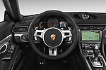 Car pictures of steering wheel view of a 2015 Porsche 911 Targa 4S 2 Door Coupe Steering Wheel