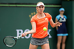 March 10, 2019: Elise Mertens (BEL) was defeated by Qiang Wang (CHN) 7-6, 6-7, 6-3 at the BNP Paribas Open at the Indian Wells Tennis Garden in Indian Wells, California. ©Mal Taam/TennisClix/CSM