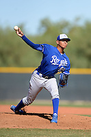 Kansas City Royals pitcher Julio Pinto (62) during an instructional league game against the Seattle Mariners on October 2, 2013 at Surprise Stadium Training Complex in Surprise, Arizona.  (Mike Janes/Four Seam Images)