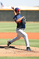 Drew Pomeranz - Cleveland Indians - 2010 Instructional League. Pomeranz, the Indians 1st round draft choice, pitches in his first game in an Indians uniform against the Dodgers at the Indians complex in Goodyear, AZ - 09/24/2010.Photo by:  Bill Mitchell/Four Seam Images..