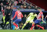 (L to R) Club Atletico de Madrid's coach Diego Pablo Cholo Simeone, Lucas Hernandez, Koke Resurreccion and Futbol Club Barcelona's Luis Suarez  during La Liga match. November 24,2018. (ALTERPHOTOS/Alconada)