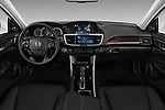 Stock photo of straight dashboard view of 2017 Honda Accord EX-L 4 Door Sedan Dashboard