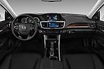 Stock photo of straight dashboard view of 2017 Honda Accord EX-L 4 Door Sedan Dashboard