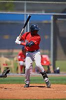 Boston Red Sox Jecorrah Arnold (17) bats during a Minor League Spring Training game against the Tampa Bay Rays on March 25, 2019 at the Charlotte County Sports Complex in Port Charlotte, Florida.  (Mike Janes/Four Seam Images)