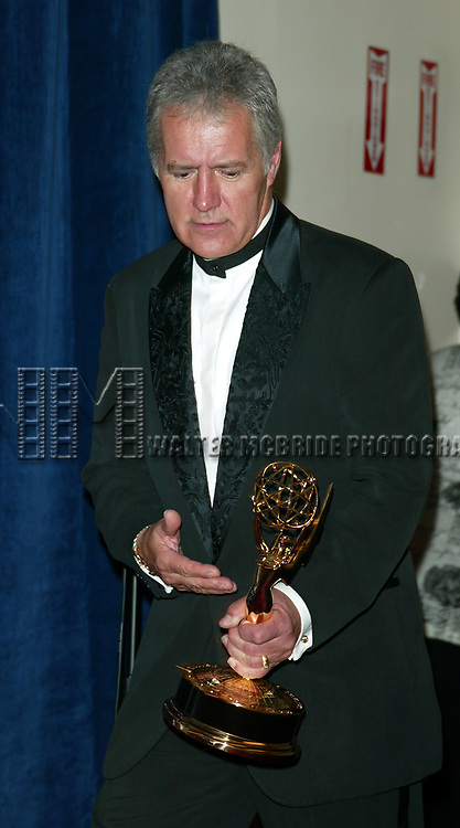 Alex Trebek  (Winner - Outstanding Game Show Host) attending the 30th Annual Daytime EMMY AWARDS at Radio City Music Hall, New York City.<br /> May 16, 2003
