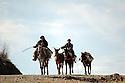 Iraq 2008.In Zahle, Kurdish smugglers and their horses near the Iranian border   <br />  Irak 2008 A Zahle, contrebandiers kurdes et leurs chevaux pres de la frontiere iranienne