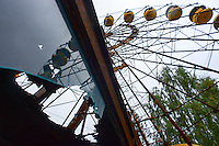 """Legendary"" observation wheel - an image often used by cinematographers and designers of computer games to picture abandoned Prypyat city near Chernobyl power plant."